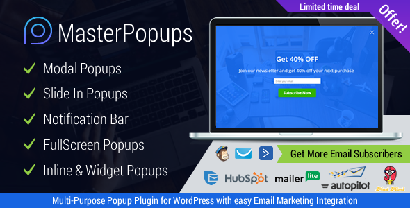 Master Popups v3.2.4 - Popup Plugin for Lead Generation