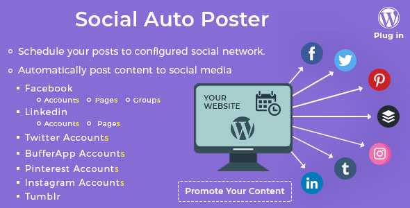 Social Auto Poster v3.7.0 - WordPress Plugin