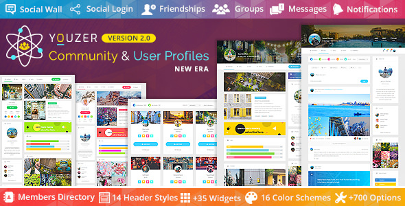 Youzer v2.3.9 - Buddypress Community & User Profiles