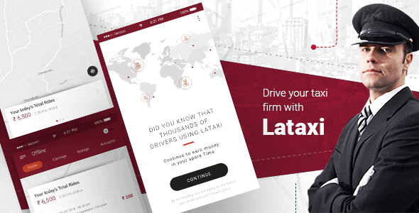 LaTaxi - On Demand Taxi Booking Application Script - April 2019 Update