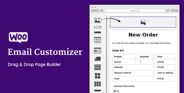WooCommerce Email Customizer with Drag and Drop v1.5.13