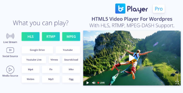 bzplayer Pro v2.1 - Live Streaming Player Plugin