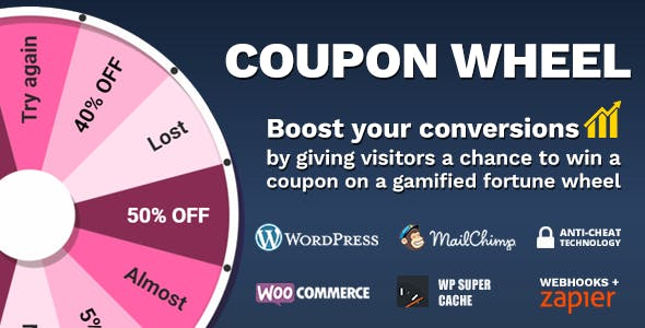 Coupon Wheel For WooCommerce and WordPress v3.0.8