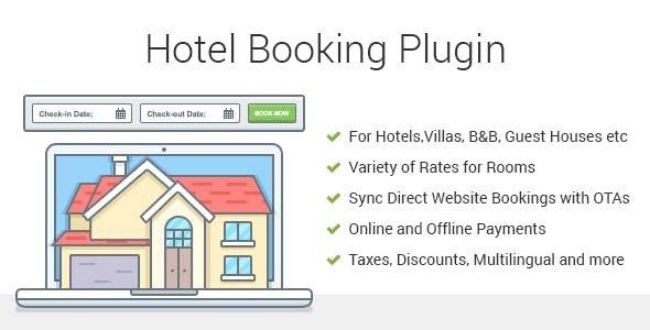 Hotel Booking v3.7.6 - Property Rental WordPress Plugin