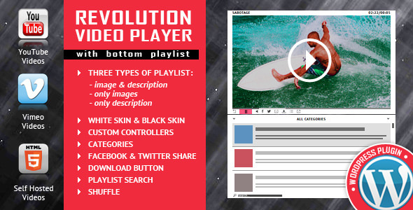 Revolution Video Player With Bottom Playlist v2.1