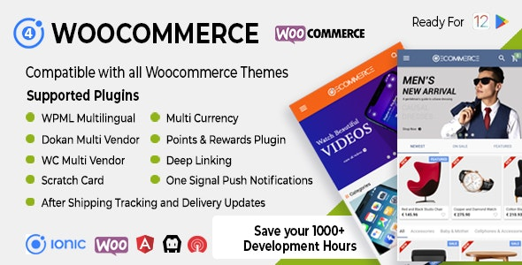 Ionic Woocommerce v3.0.1 - Universal iOS & Android Ecommerce / Store Full Mobile App