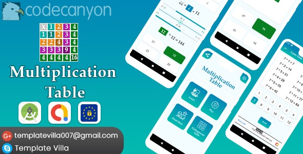 Multiplication Table, Learn and Play v1.0