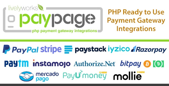 PayPage v1.3.0 - PHP ready to use Payment Gateway Integrations