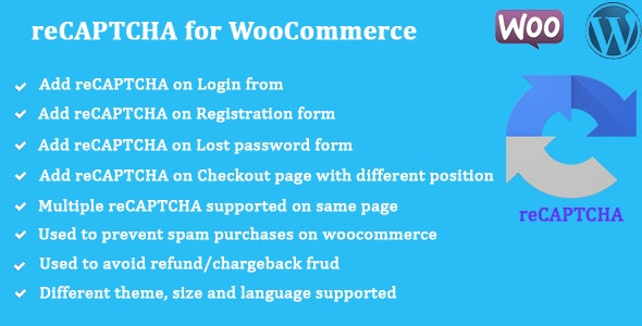reCAPTCHA for WooCommerce v1.0.8