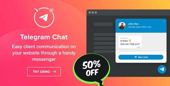 Telegram Chat Plugin for WordPress v1.0.0