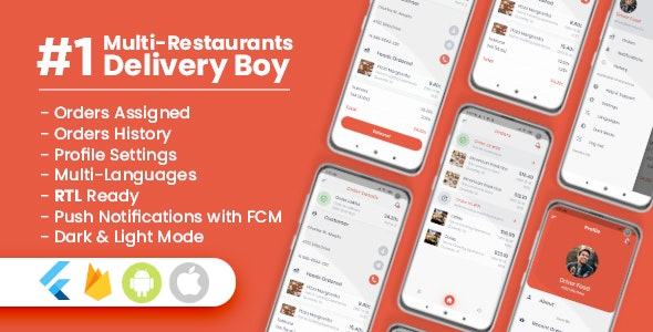 Delivery Boy For Multi-Restaurants Flutter App v1.0.0