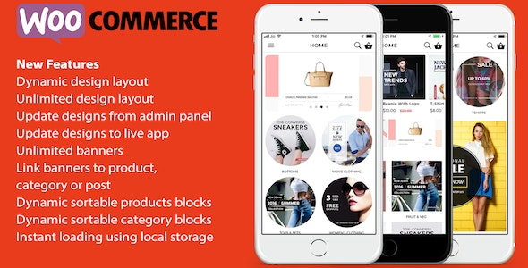 ionic 3 App for WooCommerce v8.0.1