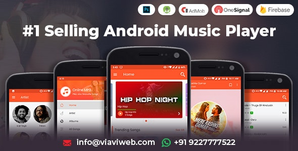 Android Music Player - Online MP3 (Songs) App (25 October 2019)