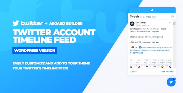 Twitter Timeline Feed v1.0.0 - WordPress Plugin