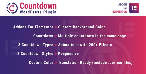 Countdown for Elementor v1.0.0 - WordPress Plugin