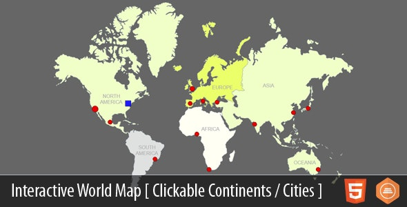 Interactive World Map With Cities v4.1