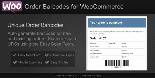 Order Barcodes for WooCommerce v1.5