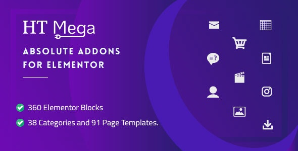 HT Mega Pro v1.2.2 – Absolute Addons for Elementor Page Builder