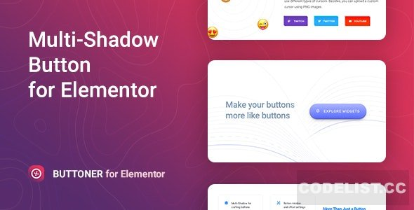 Buttoner v1.0.1 - Multi-shadow Button for Elementor