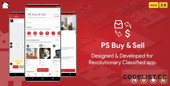 PS BuySell v2.8 - Olx, Mercari, Offerup, Carousell, Buy Sell Clone Classified App
