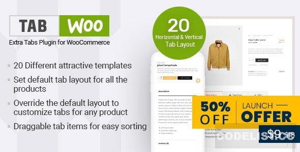 TabWoo v1.0.4 - Custom Product Tabs for WooCommerce