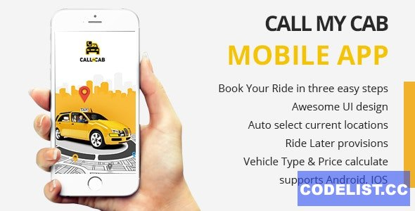 Online Taxi Booking App - Call My Cab Mobile App